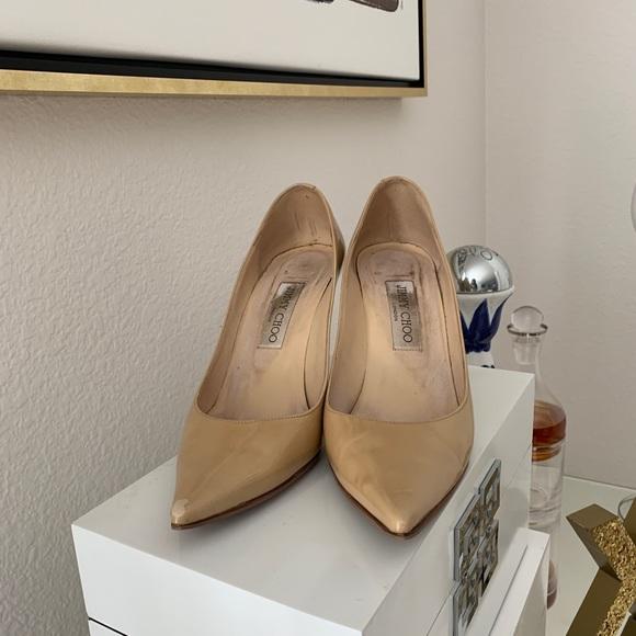 Jimmy Choo Shoes - Nude Jimmy Choo Heels 👠